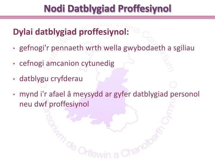 Nodi Datblygiad Proffesiynol