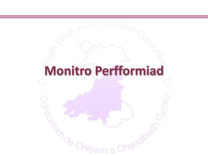 Monitro Perfformiad