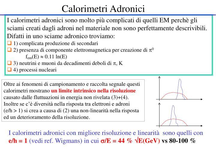 Calorimetri Adronici