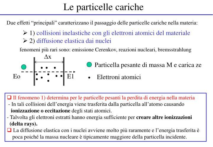 Le particelle cariche