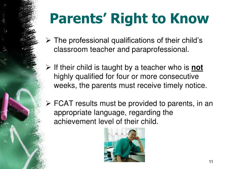 Parents' Right to Know