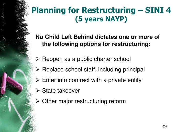 Planning for Restructuring – SINI 4