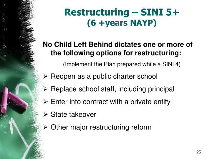 Restructuring – SINI 5+
