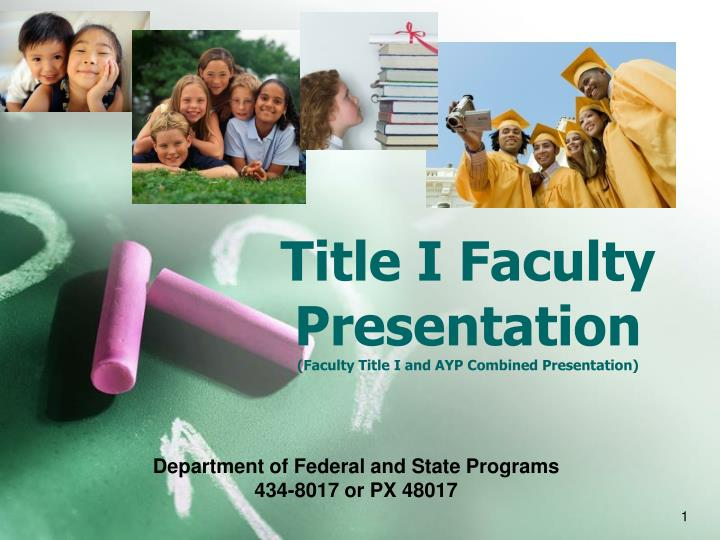 Title i faculty presentation faculty title i and ayp combined presentation