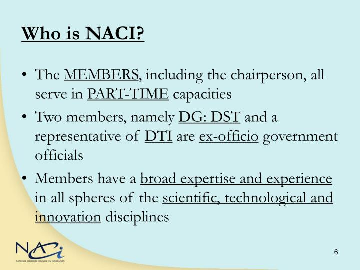 Who is NACI?