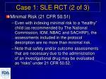 case 1 sle rct 2 of 3