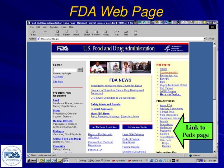 FDA Web Page