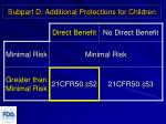 subpart d additional protections for children2