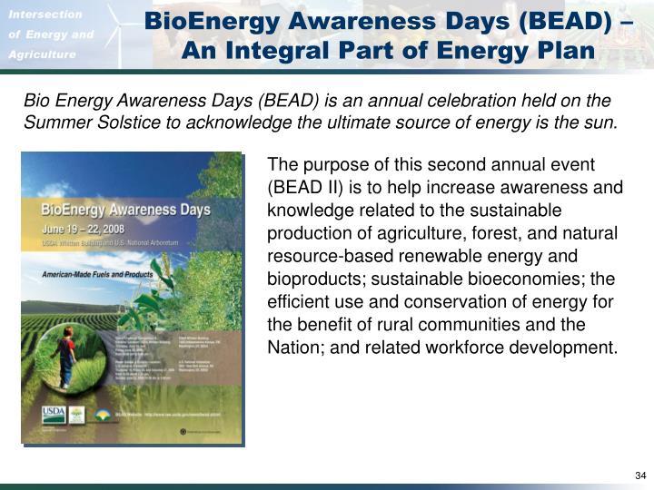 BioEnergy Awareness Days (BEAD) –