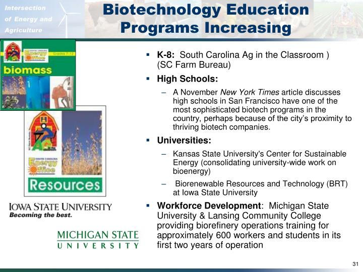 Biotechnology Education