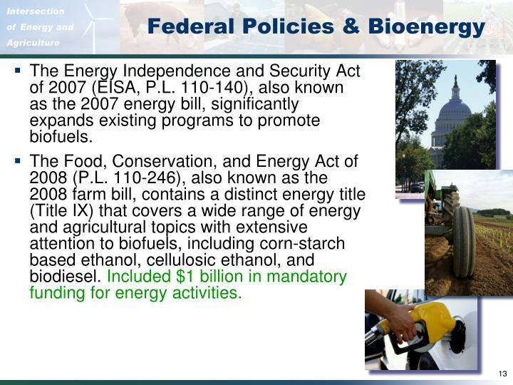Federal Policies & Bioenergy