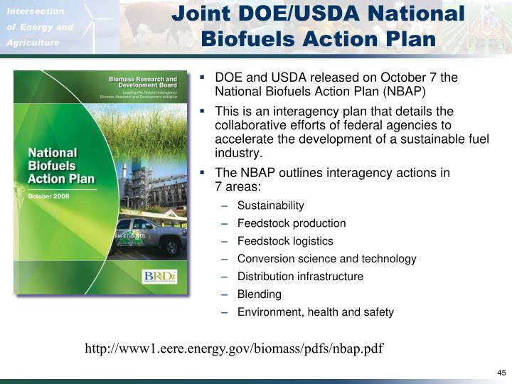 Joint DOE/USDA National Biofuels Action Plan