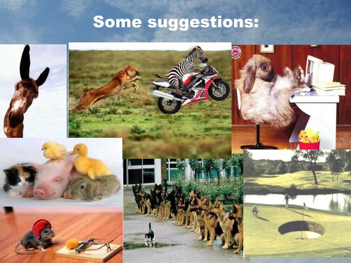 Some suggestions: