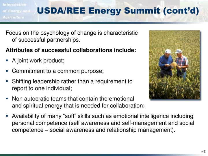USDA/REE Energy Summit (cont'd)