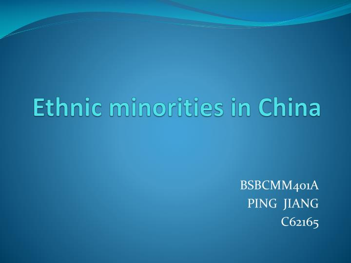ethnic minorities As a large united multi-national state, china is composed of 56 ethnic groups among them han chinese account for 9159% of the overall chinese population and the 55.