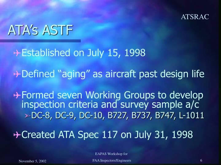 ATA's ASTF