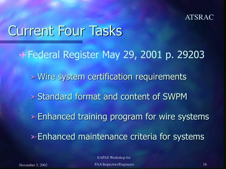 Current Four Tasks