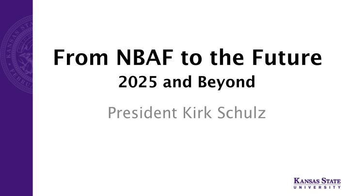 From nbaf to the future