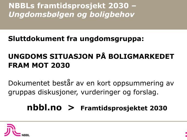 NBBLs framtidsprosjekt 2030 –