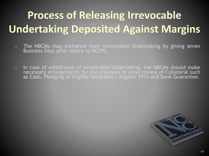 The NBCMs may withdraw their Irrevocable Undertaking by giving seven Business Days prior notice to NCCPL.