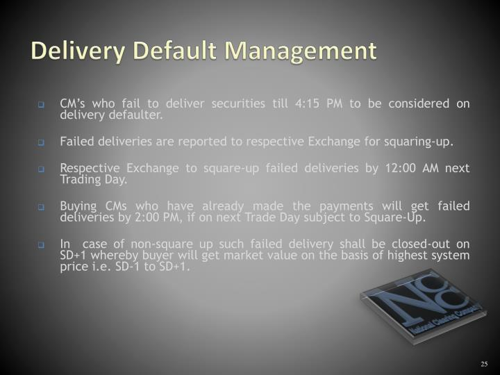 Delivery Default Management