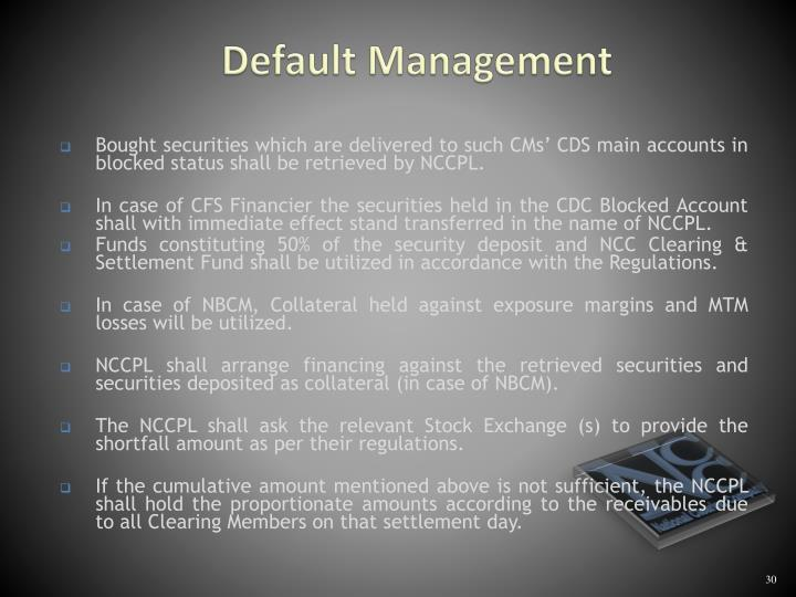 Default Management