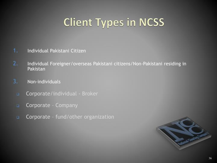 Client Types in NCSS