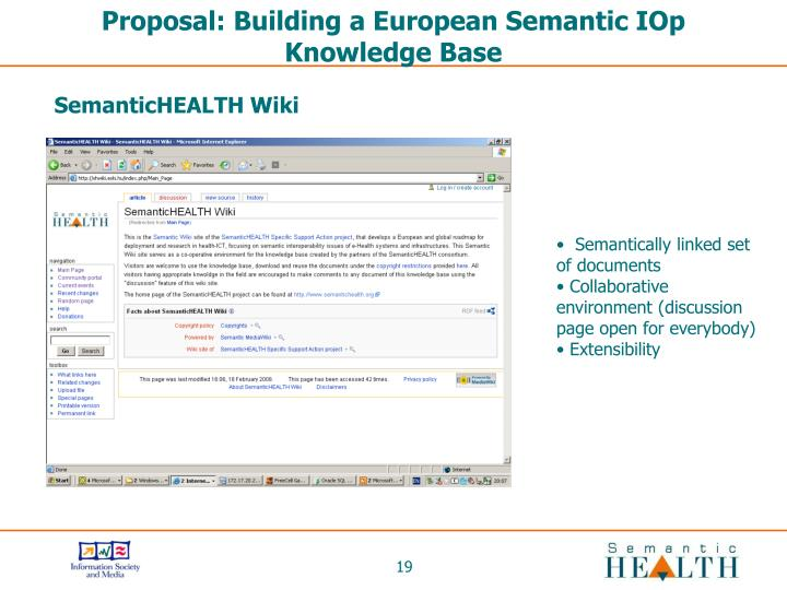 Proposal: Building a European Semantic IOp Knowledge Base