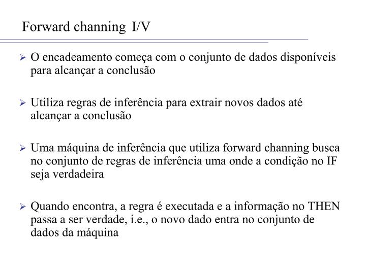 Forward channing I/V