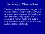 summary of observations2