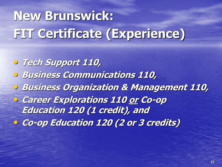 New Brunswick: