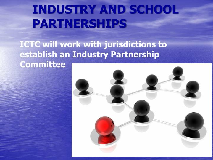 INDUSTRY AND SCHOOL PARTNERSHIPS