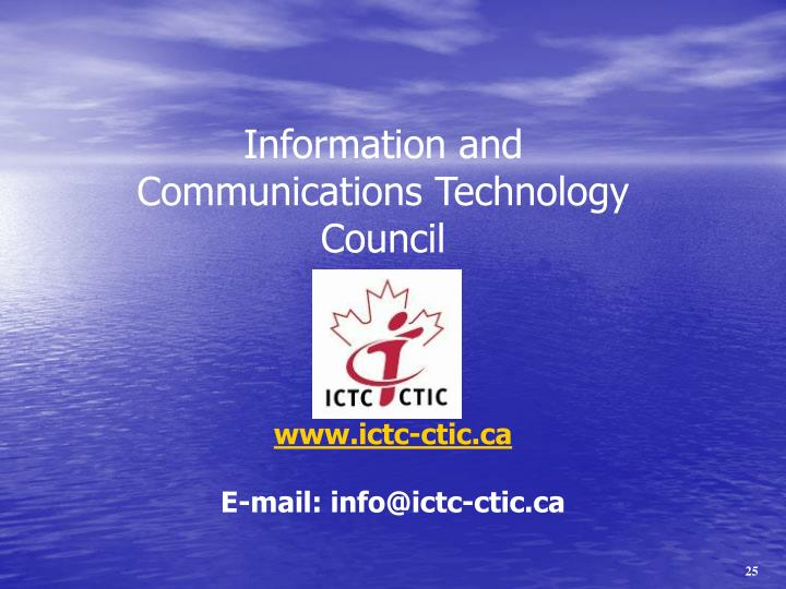 Information and Communications Technology Council