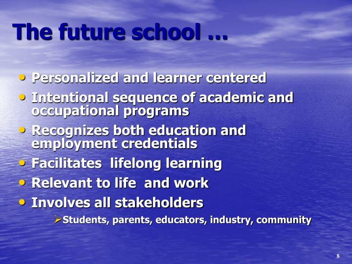 The future school …