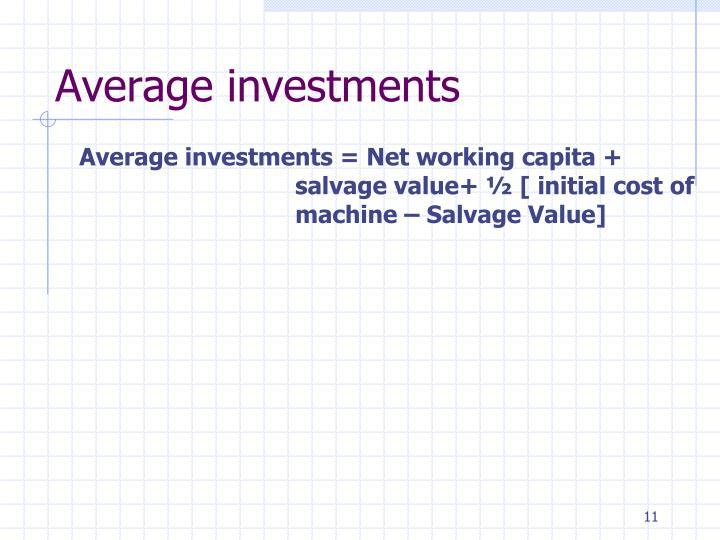 Average investments