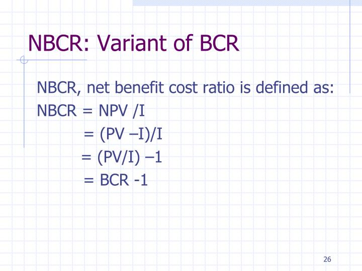 NBCR: Variant of BCR