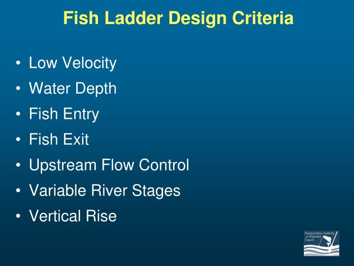Fish Ladder Design Criteria