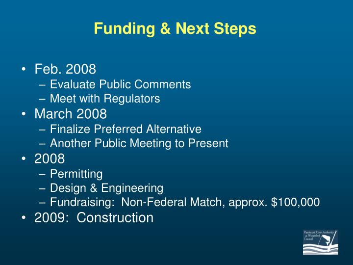 Funding & Next Steps