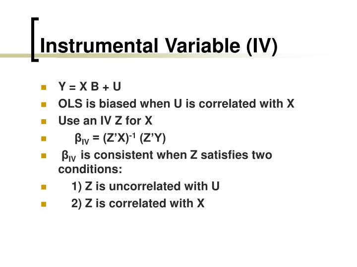 Instrumental Variable (IV)