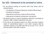 sec 102 statement to be annexed to notice