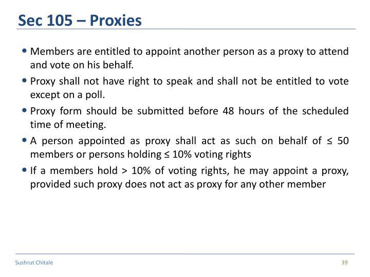 Sec 105 – Proxies