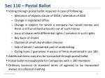 sec 110 postal ballot