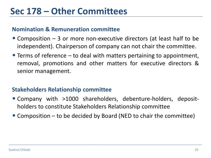 Sec 178 – Other Committees