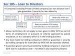 sec 185 loan to directors