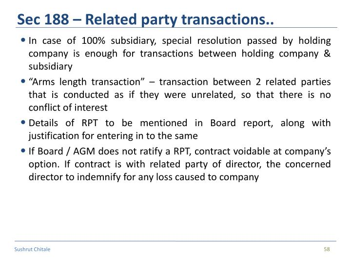 Sec 188 – Related party transactions..