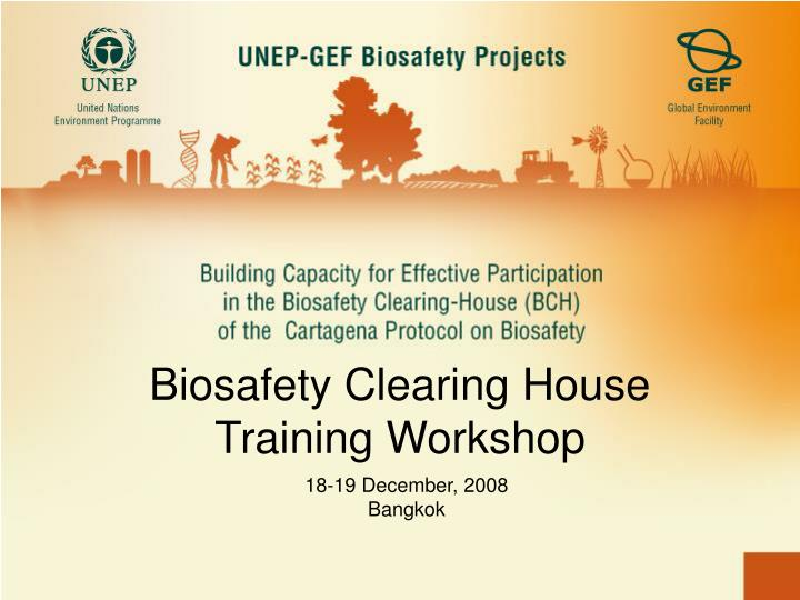 Biosafety Clearing House