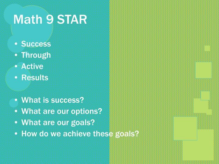 Math 9 STAR