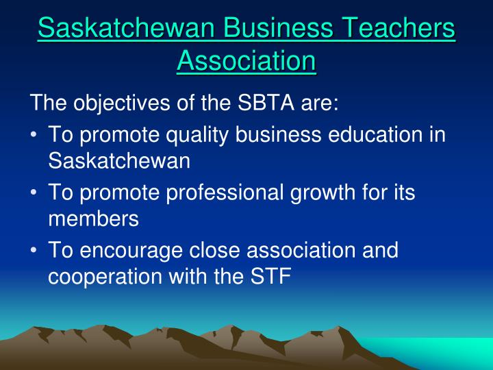 Saskatchewan business teachers association
