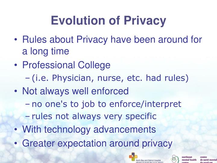 Evolution of Privacy