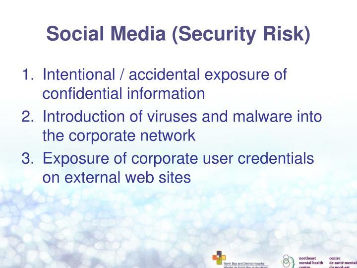 Social Media (Security Risk)